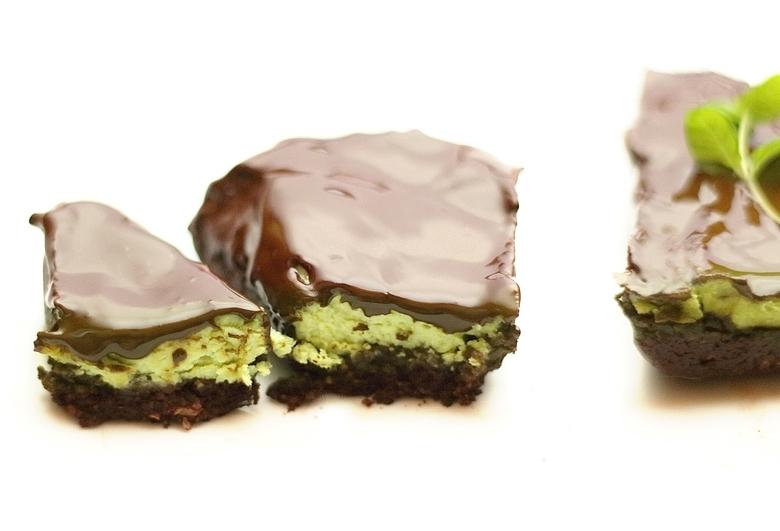 dietetyczne ciasto czekoladowo miętowe z tofu
