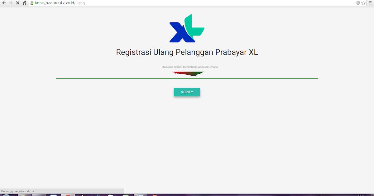 Beritaku  Beritamu: Cara Registrasi Ulang Pelanggan Prabayar XL Online
