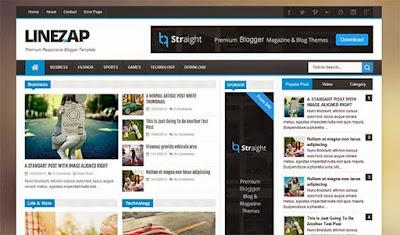 Download LineZap Premium Template Blogger Responsif