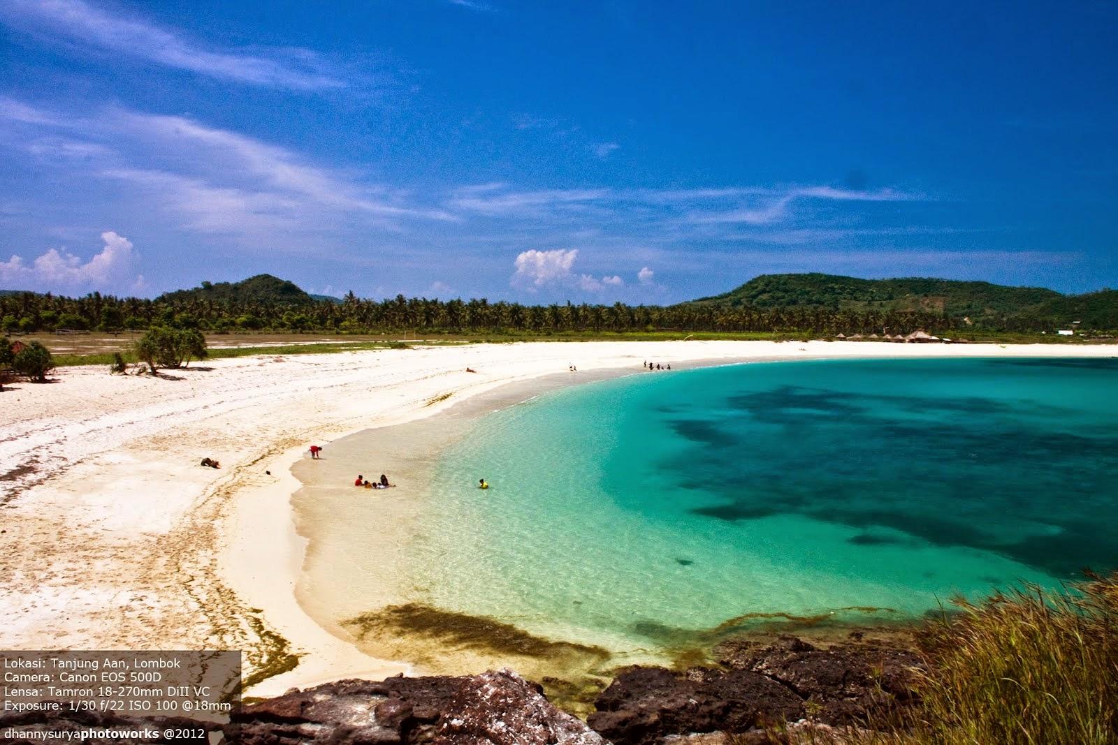 Lokasi Pantai Tanjung Aan dan Batu Payung Lombok Tengah