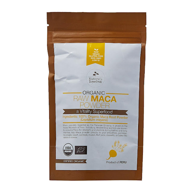 Nature's Superfoods Organic Raw Maca Root Powder