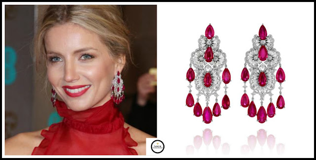BAFTA's, Chopard, Rubies, Diamonds, Chandlier earrings, jewellery, jewelry