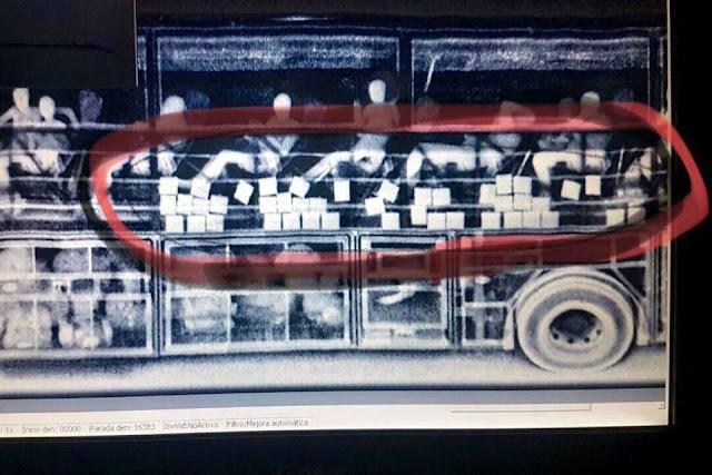 Hallan 981 mil 140 dólares en un camión de pasajeros que viajaba de Reynosa a Puebla