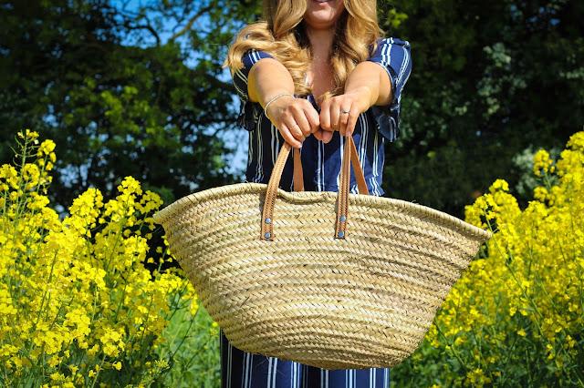 Cath Kidston Straw Bag