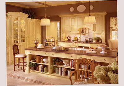 Picture Photo for Traditional Country Kitchen Decorating Ideas On A Budget With Soft Model Lamp