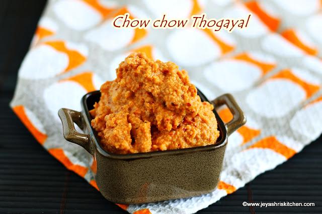 Chow chow thogayal