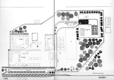 Plattegrond van vernietigingskamp Sobibor, kaart van Jules Schelvis
