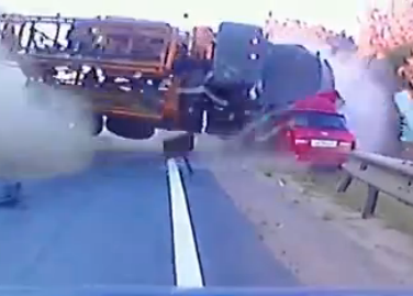 Brutal Accidente en Carretera