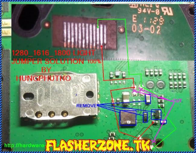 Nokia 1280 nokai 103 lcd light jumper diagram hardware