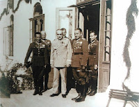 Józef Piłsudski we dworze w Moszczenicy