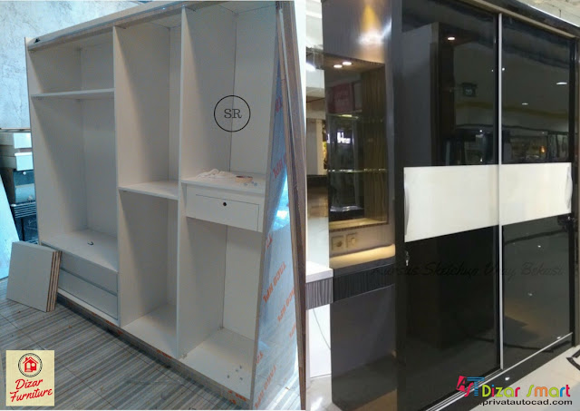 lemari pakaian design custom,Furniture Rumah Custom