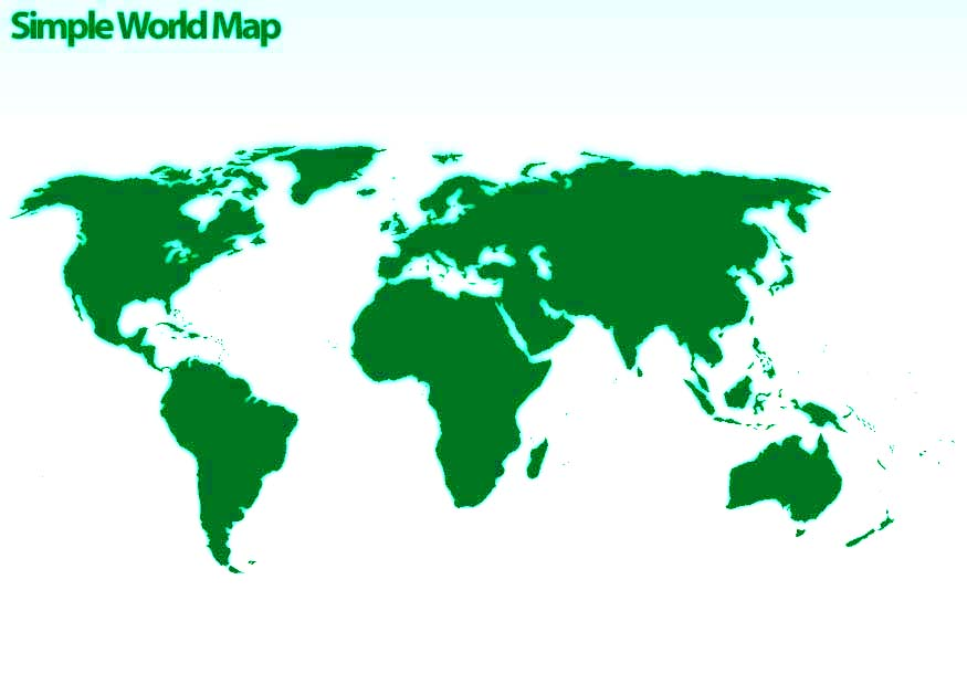 Psd Files Free Download: Simple world map, world map psd