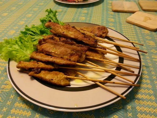Thai Pork Satay - Private Cooking Class with Easy Day Thailand