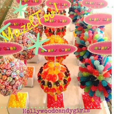 Stupendous Candy Centerpieces Custom Lollipop Decor Rainbow Candy Beutiful Home Inspiration Xortanetmahrainfo
