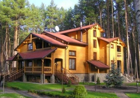 Desain Rumah Kayu Sederhana dan Modern