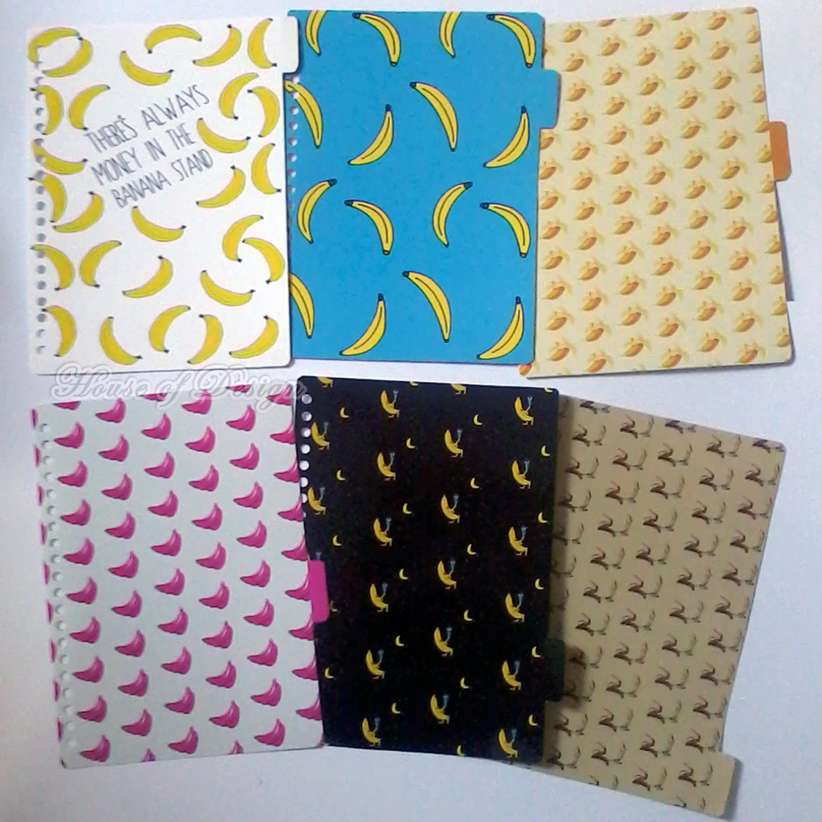 DIVIDER BINDER CUSTOM, PEMBATAS BINDER CUSTOM, PEMBATAS BINDER 20RING UKURAN A5 CUSTOM, PEMBATAS BINDER FRUITS TUMBLR, PEMBATAS BINDER BANANA