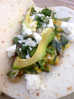 Creamy Zucchini, Corn and Roasted Poblanos Taco Filling by Future Relics