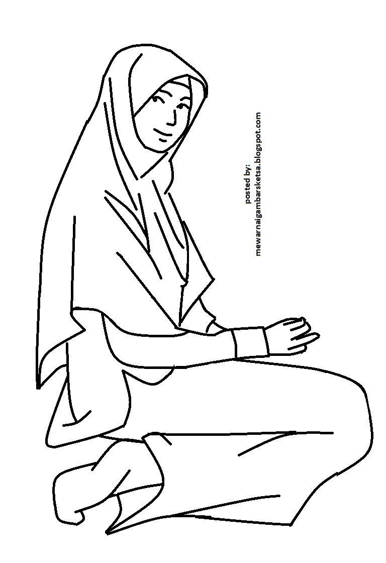Mewarnai Muslimah Princess Related Keywords Suggestions Mewarnai