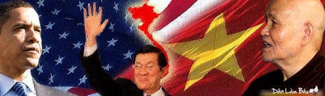 Đức Tăng Thống Thích Quảng Độ viết thư gửi Tổng Thống Hoa Kỳ Barack Obama nhân cuộc gặp gỡ với Chủ tịch Trương Tấn Sang