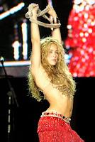 Shakira ven though she stands shorter than most women