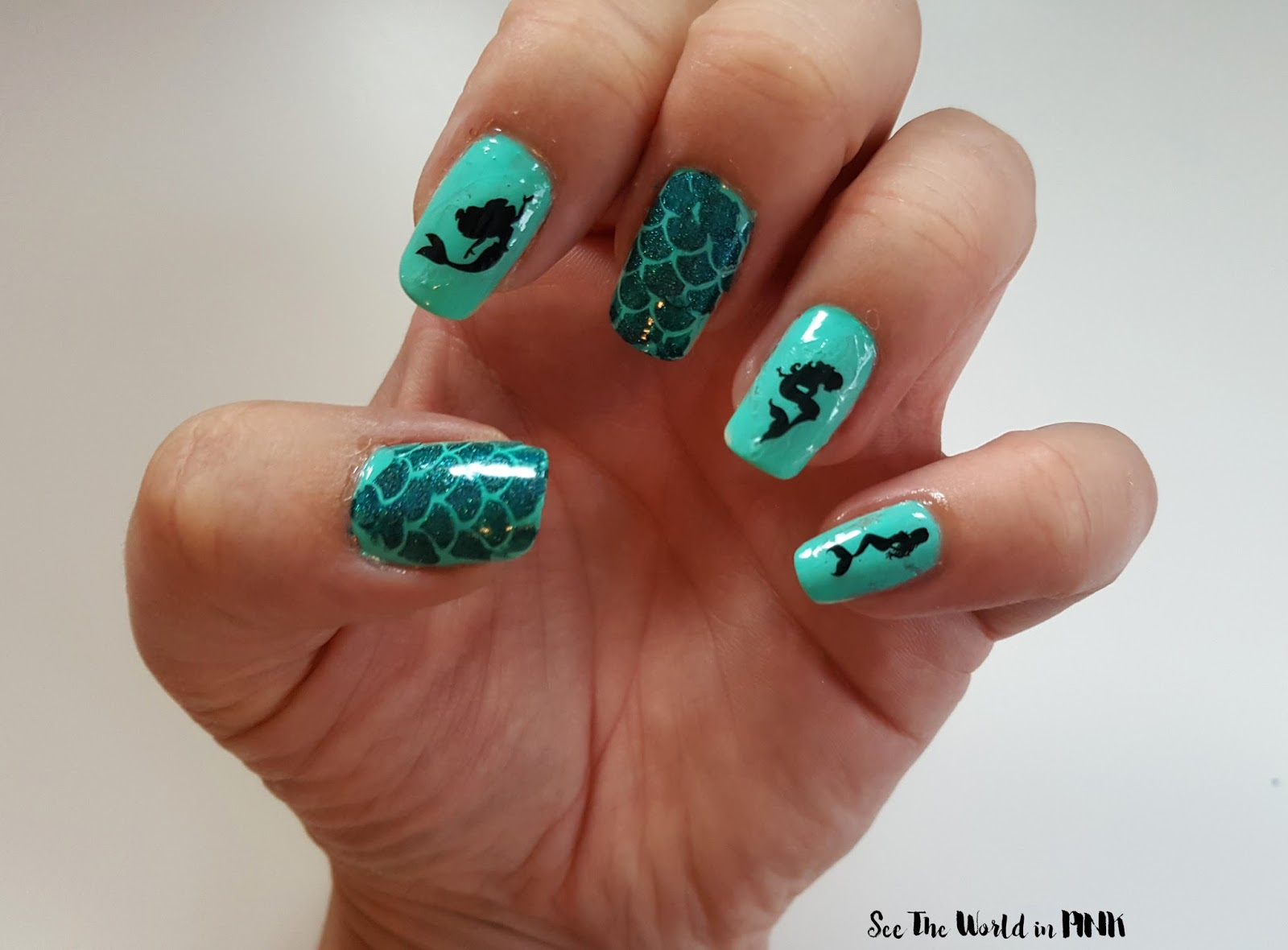Manicure Monday - Mermaid Nails!