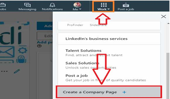 create a linkedin company page in hindi