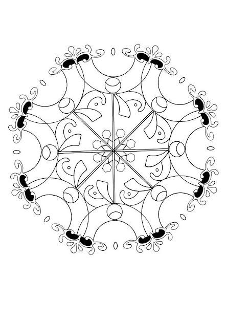 Turkish Flower Mandala Worksheet Color Online Print