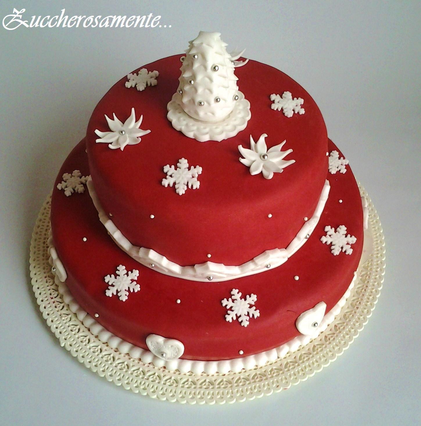 Torte Decorate Per Natale zuccherosamente: torta per il pranzo di natale!