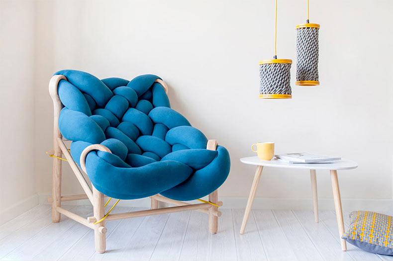 Una silla tejida de gran tamaño de Veega Tankun