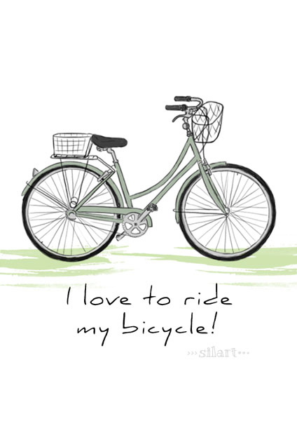 bicycle, hand drawn