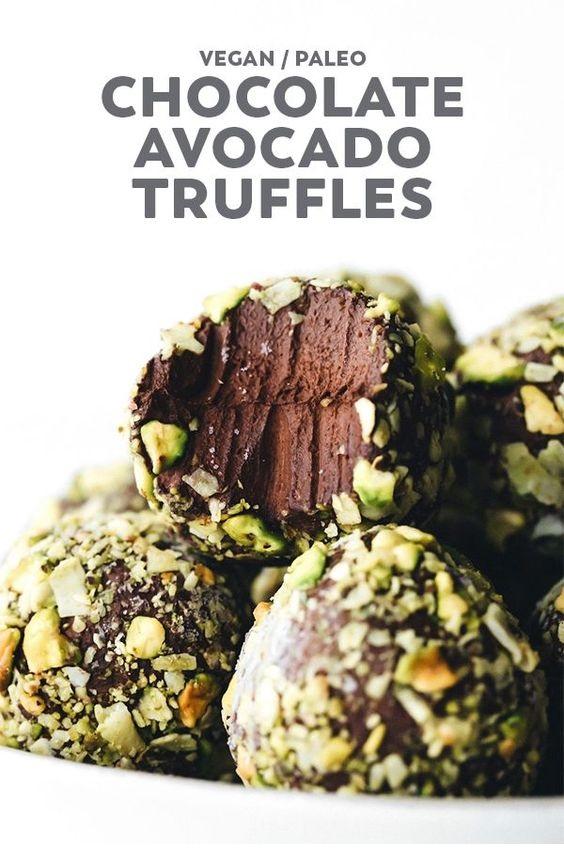 Chocolate Avocado Pudding Truffles