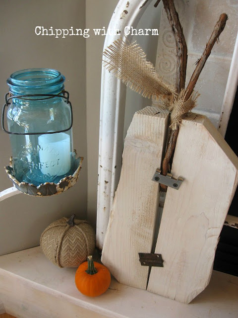 Chipping with Charm: Wood and Hinge Pumpkin from Ramshackeld Treasures...www.chippingwithcharm.blogspot.com