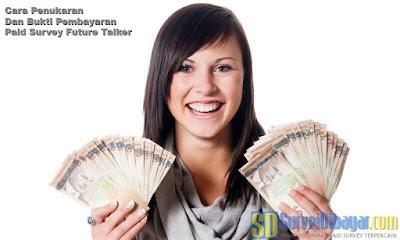 Cara Penukaran Dan Bukti Pembayaran Paid Survey Future Talkers | SurveiDibayar.com