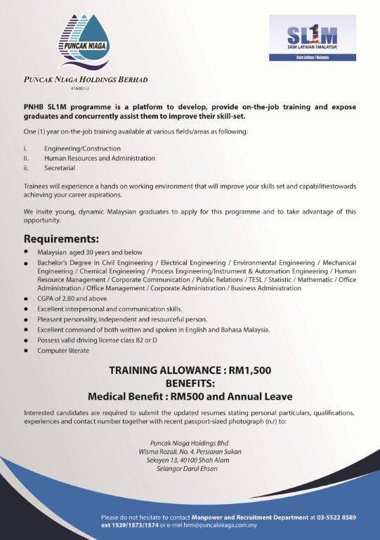 Program SL1M Puncak Niaga Untuk Graduan