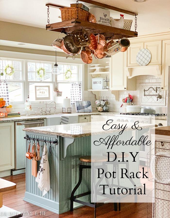 diy pot rack tutorial finally