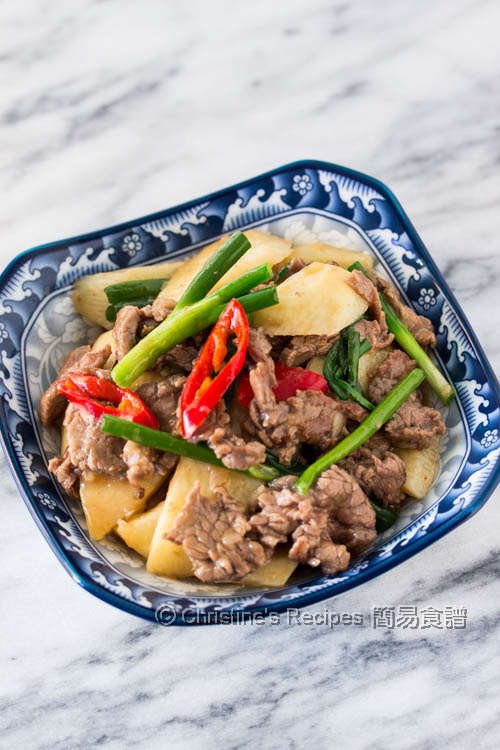 Stir Fried Chinese Yam with Beef01