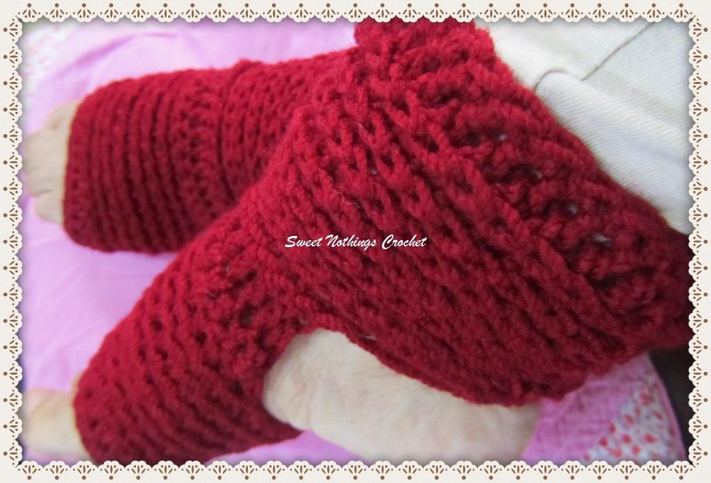 Sweet Nothings Crochet Ribbed Yoga Socks