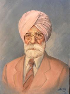 Sant Singh Sekhon Portrait by Jarnail Singh