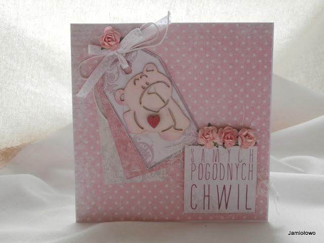 słodka karteczka na urodziny dla dziewczynki