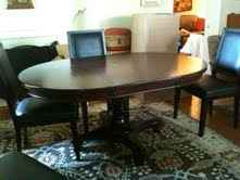 Used Pottery Barn Montego Pedestal Table