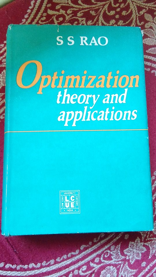 Ss Rao Optimization Book