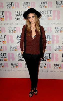 Cara Delevingne BRIT Awards 2015