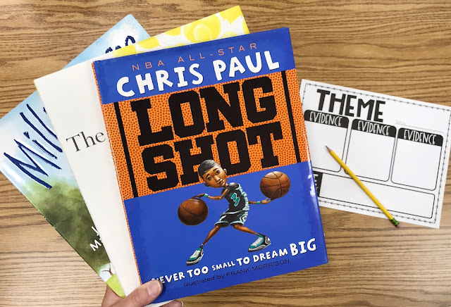 "Three Mentor Texts with Graphic Organizer with Text ""Theme"""