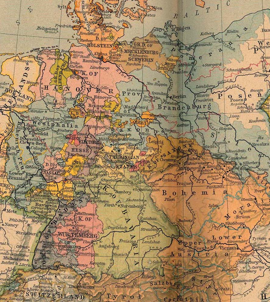 Map Of Germany Pre Unification.An Interesting German Roots Festival