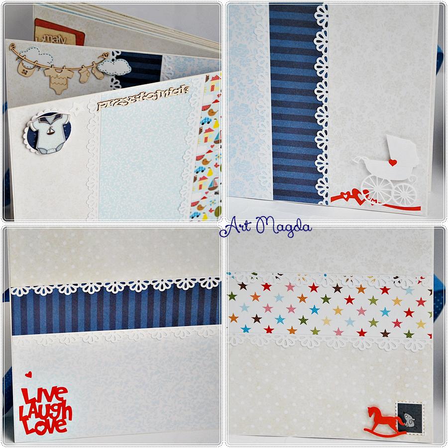 album handmade, ręcznie robiony, ArtMagda, roczek dziecka, prezent