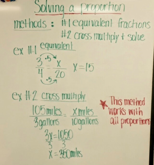 Mrs. White's 6th Grade Math Blog: PROPORTIONS - NOTES & PRACTICE