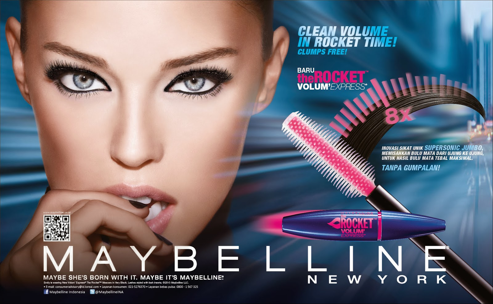Review Maybelline The Rocket Volum' ExpressMascara