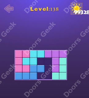 Cheats, Solutions, Walkthrough for Move Blocks Easy Level 138