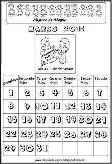 Calendário março 2015