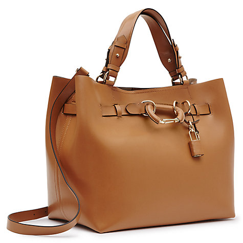 reiss bleecker leather hardware detail tote bag